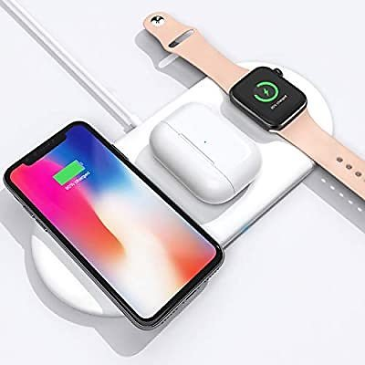 Save 50%! 3 in 1 Wireless Charging Pad Fast Charger, Charge Your IPhone, IWatch and Airpods All in One Place! Other Brands Too