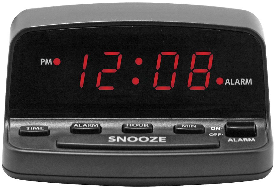 Mainstays Alarm Clock with Keyboard Style Controls