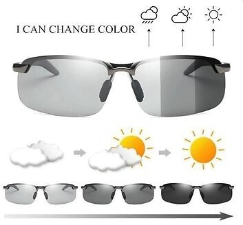 Photochromic Driving Sunglasses with Polarized Lens For Riding Outdoor Men's Accessories from Apparel Accessories on Banggood.com