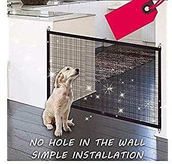 Weardear Foldable Cats Dogs Safety Protective Fence Pets Gate Mesh Isolation Net Crates, Houses & Pens