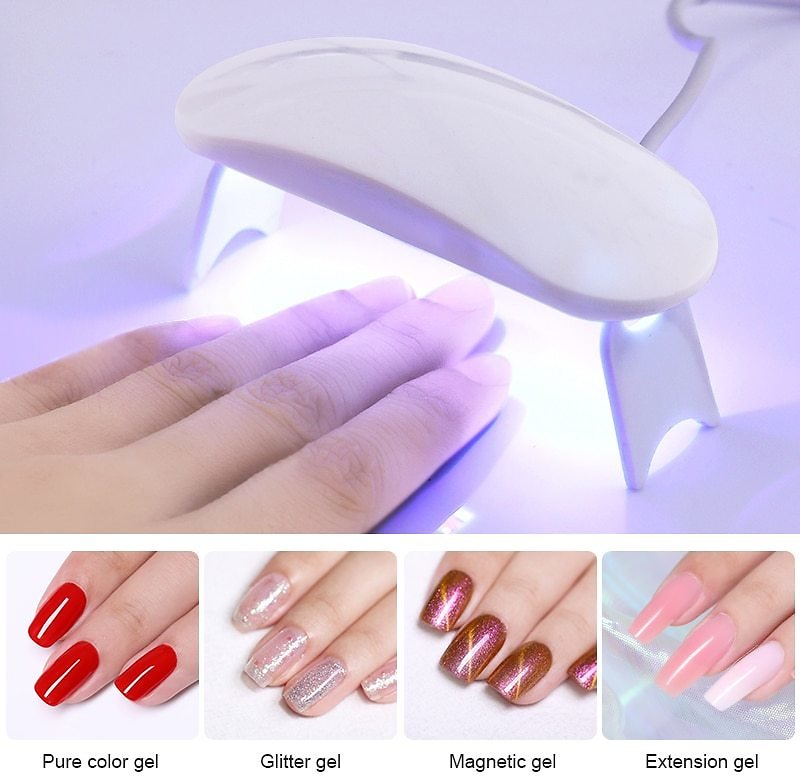 US $4.82 |6W White Nail Dryer Machine UV LED Lamp Portable Micro USB Cable Home Use Nail UV Gel Varnish Dryer 3 LEDS Lamp Nail Art Tools|Nail Dryers| - AliExpress