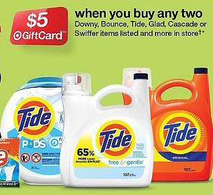 Free $5 Target Gift Card W/P 2 Household Essentials