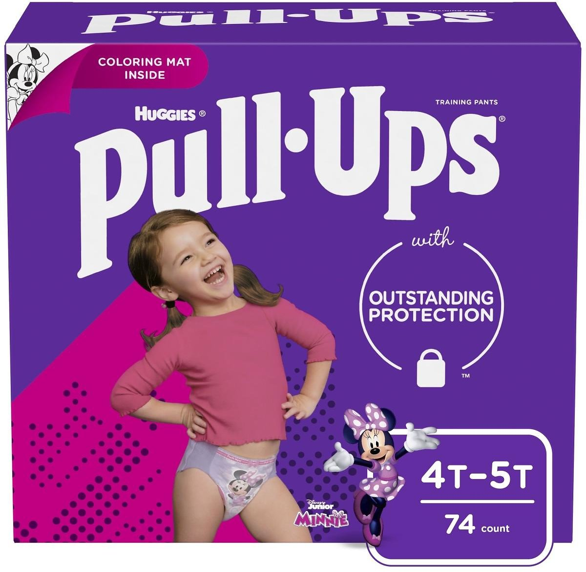 Pull-Ups Girls' Learning Designs Training Pants, 4T-5T, 74 Ct