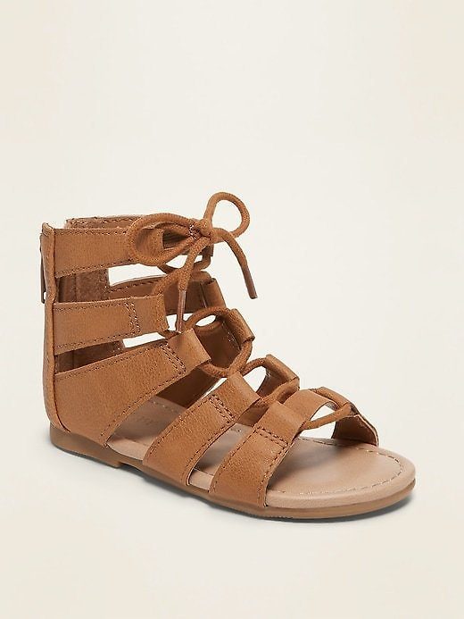 Faux-Leather Gladiator Sandals for Toddler Girls   Old Navy