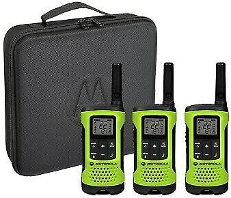 Motorola Talkabout T261TP Two-Way Radio, 25 Mile, 3 Pack, Lime 748091002250