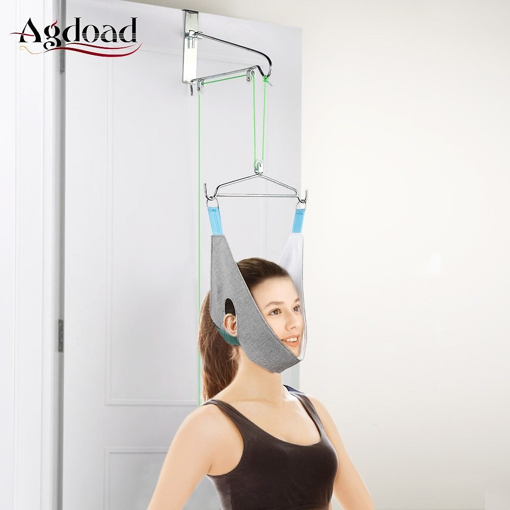 US $24.28 36% OFF Hanging Neck Traction Belt Posture Corrector Support Neck Stretching Device Pain Relief Chiropractic Cervical Traction Hammock Braces & Supports  - AliExpress