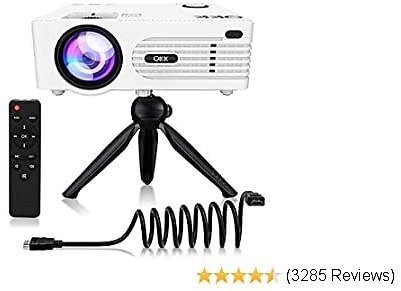 QKK 2020 Upgrade QK01 4500Lux Mini Projector with Stand 45% OFF