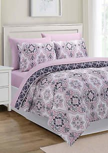 Springmaid Georgia Medallion 7 Piece Comforter Set