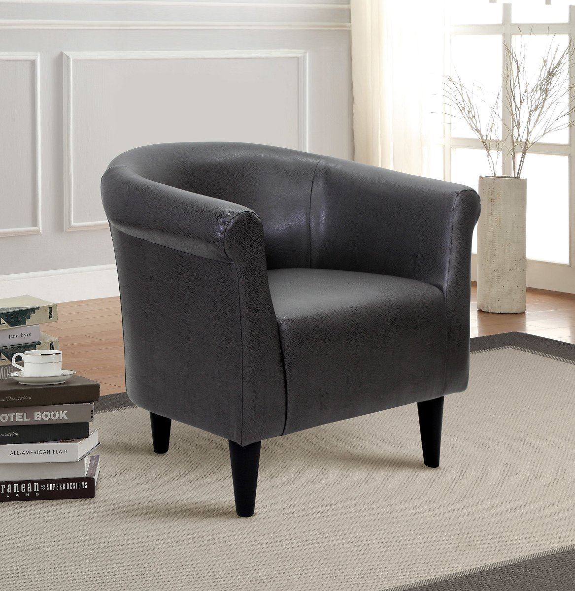 Mainstays Faux Leather Bucket Accent Chair JUST $99 + FREE Shipping (Reg $200)