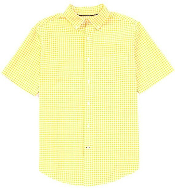 CremieuxShort-Sleeve Check Oxford Woven Shirt