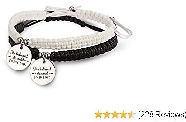 RINHOO 2PC/Set Stainless Steel 8 Infinity Couple Bracelet Braided Leather Rope Bangle Wrist Adjustable Chain Fit 7-9 Inch for Lover Friendship