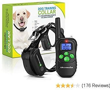 DOG TRAINING COLLAR WITH REMOTE   Electric, Rechargeable and 100% Waterproof with Beep, Vibration and Stimulation Static Pulse   Electronic Pet Safe Vibrating Collar for Small, Medium and Large Dogs