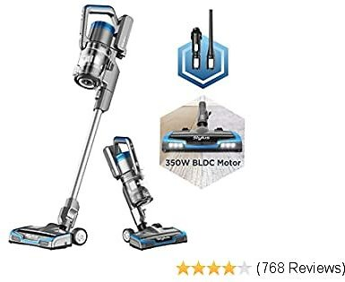 Cordless Vacuum Cleaner, 350W Powerful BLDC Motor for Multi-Flooring Deep Clean LED Headlights, Conven