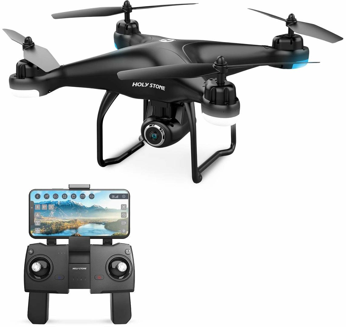 Holy Stone HS120D GPS Drone with 1080P Camera and Video for Adults GPS Return Home, RC Quadcotper Helicopter for Kids Beginners 18 Min Flight Time with Follow Me Selfie Functions