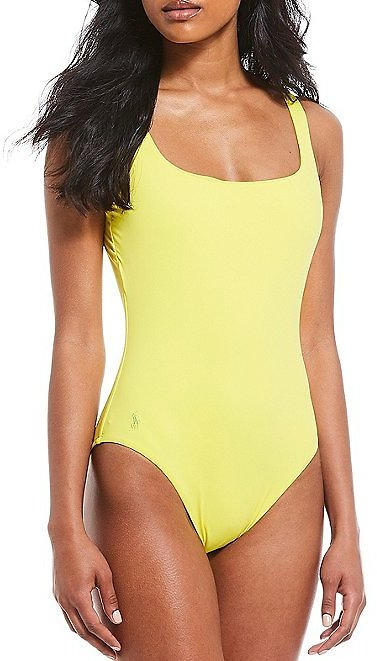 Polo Ralph LaurenModern Solids Martinique Scoop Back Tank One Piece Swimsuit