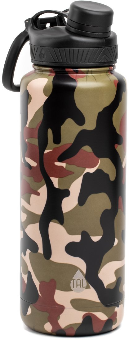 Tal 40 Ounce Double Wall Vacuum Insulated Stainless Steel Ranger Pro Water Bottle, Camo