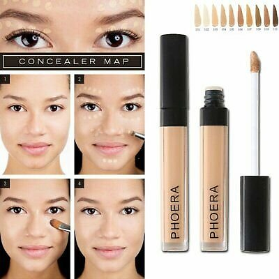 PHOERA Foundation Concealer Makeup Full Coverage Matte Brighten Long Lasting @I