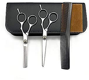 Professional Hair Cutting Scissors Set Hair Cutting Scissors/Shears,5Pcs Haircut Shears Kit with Thinning Scissors, Hair Razor Comb, Storage Case for Barber, Salon, Home Hair Shears for Women Men