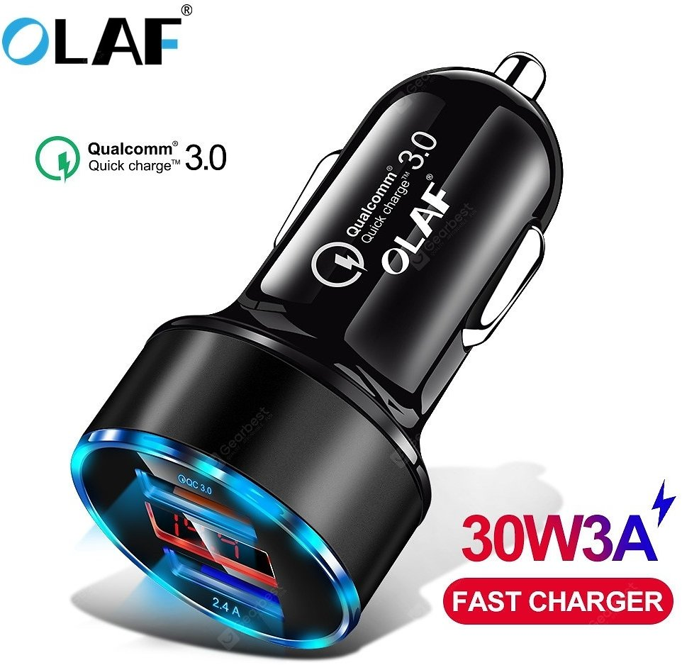 OLAF 30W 3A Metal Dual USB Super Fast Charging Car Charger Digital Display For IPhone Xiaomi Samsung Sale, Price & Reviews | Gearbest