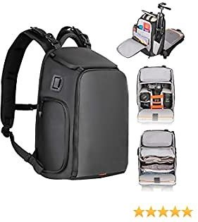 Camera Backpack Waterproof Besnfoto Camera Bag with Laptop Compartment for SLR/DSLR Mirrorless Camera Photographer Backpack for Hiking Traveling Small with Rain Cover