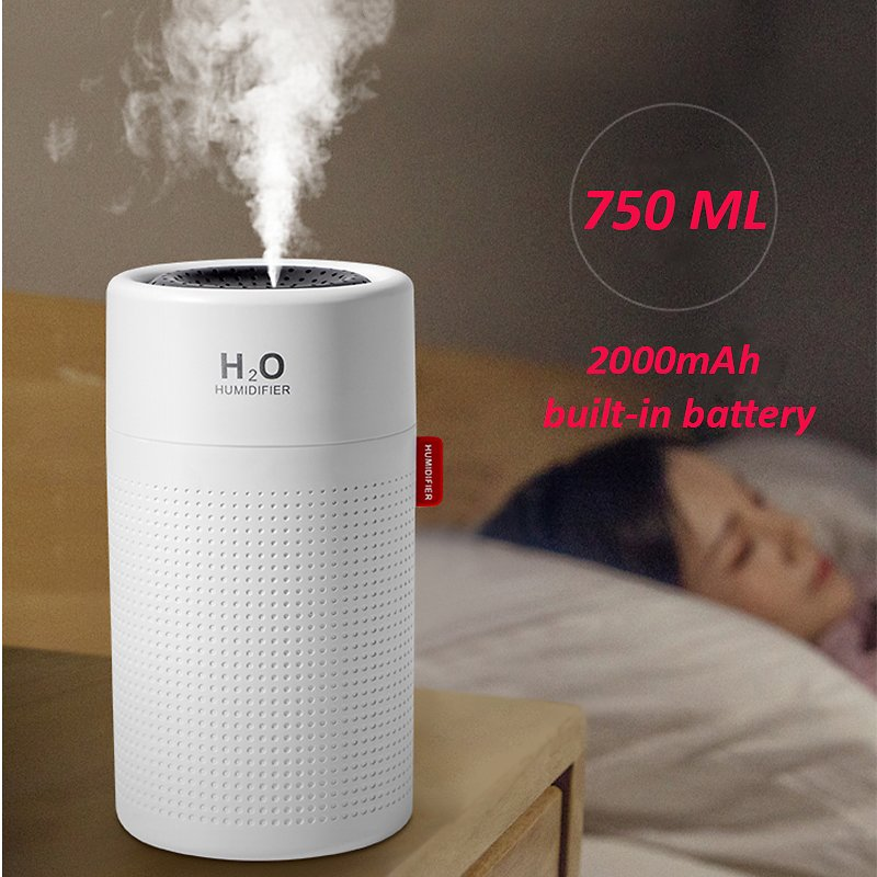 US $23.61 39% OFF|750ml Large Capacity Air Humidifier 2000mAh USB Rechargeable Wireless Ultrasonic Aroma Water Mist Diffuser Light Umidificador|Humidifiers| - AliExpress