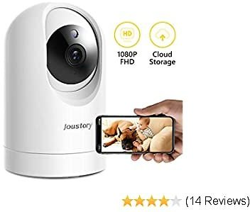 WiFi Camera Indoor,Joustory Smart Home Security Camera Wireless 1080P Pet Camera Baby Monitor with Pan/Tilt/Zoom, 2 Way Audio, Motion Detection, Night Vision