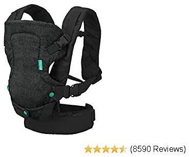Infantino Flip 4-in-1 Convertible Carrier - Black
