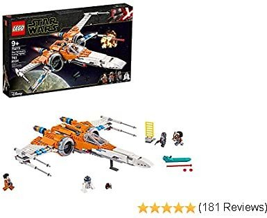 LEGO Star Wars Poe Dameron's X-Wing Fighter Building Kit, Cool Construction Toy for Kids, New 2020 (761 Pieces)