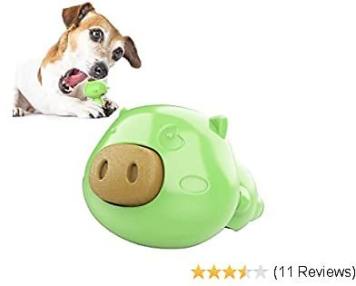 USWT Dog Lick Toy, Slow Treater Treat Dispensing,Depressing Toys,Teeth Cleaning Chew Toy, Comes with 3pcs Dog Treat (Green)