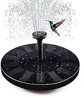 Soyond Solar Fountain Pump Solar Power Water Birdbath Fountain Pump Kit Outdoor with 4 Different Spray Pattern Heads Perfect for Bird Bath, Fish Tank, Pond, Pool, Garden (Upgraded Version) (Black)