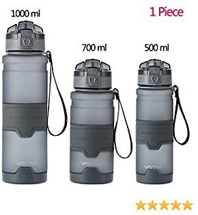 Night Cat Sport Water Bottle BPA-Free with Locking Flip-Flop Lid with Filter Leakproof for Fitness Camping Backpacking Hiking Travel Outdoor 700ml 1 Liter