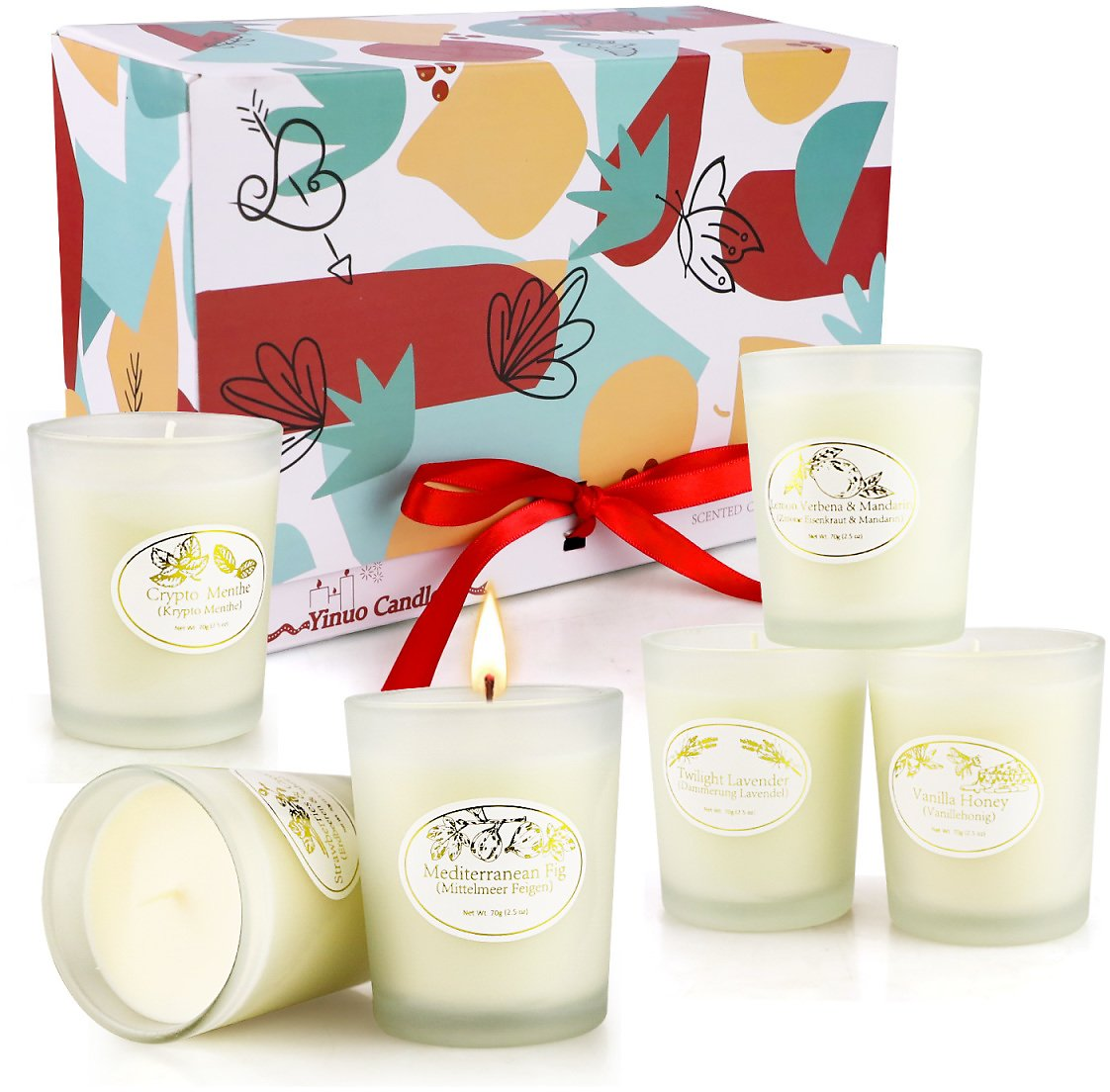 #deals--Candles Gift Set, Candles for Home Scented, 6 Pack Essential Oil Candles