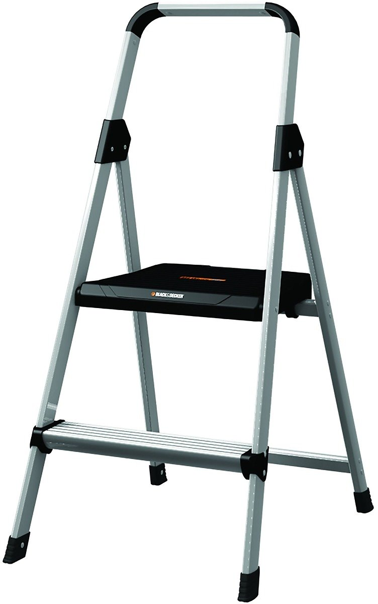 Black and Decker, 2' Steel Type II Step Stool, 1 Each, Aluminum,Silver, BXL2260-02
