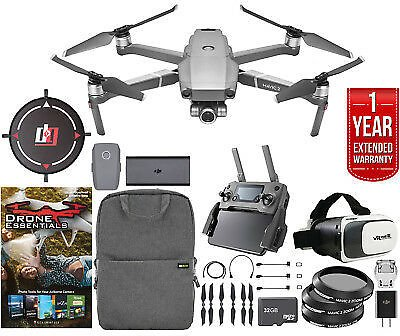 DJI Mavic 2 Zoom Drone with 24-48mm Lens Mobile Go Bundle and Extended Warranty 190021320604