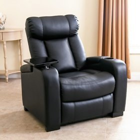 Larson Leather Power Reclining Home Theater Chair (F/S)