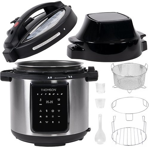 Thomson 9-in-1 Pressure, Slow Cooker, Air Fryer and More, with 6.5 QT Capacity | BuyDig.com