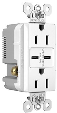 Pass & Seymour SPEC GRADE TYPE C USB CHARGING RECEPTACLE - WHITE Dual Type C 15a