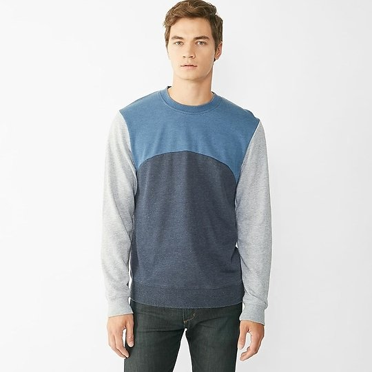 74% OFF | Alternative Apparel French Terry Color Blocked Crew | vickerey