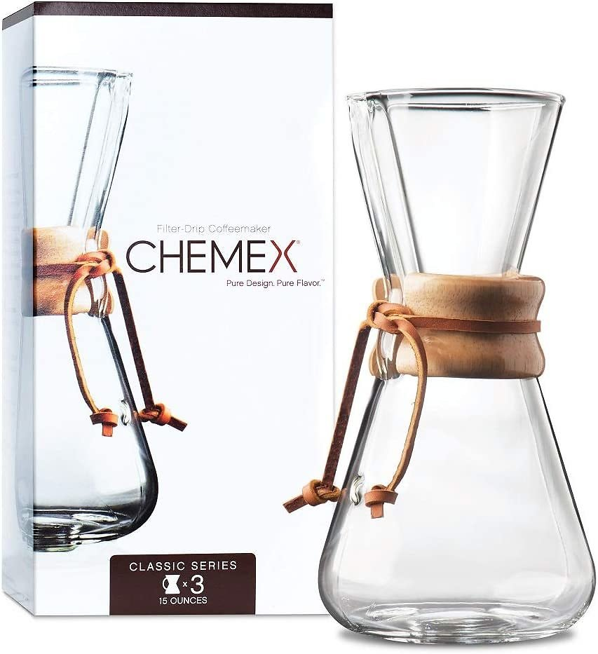 12% OFF   CHEMEX Pour-Over Glass Coffeemaker - Classic Series