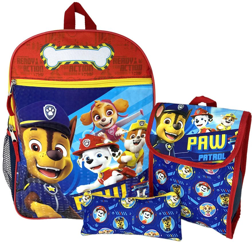 PAW Patrol - Paw Patrol Backpack, Lunch Bag & Pencil Pouch On a Roll Lookout Tower 3PC Set