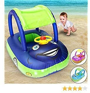 Weardear Baby Swim Ring Cartoon Inflatable Car Float Seat Safety Swimming Accessories Throw Rings