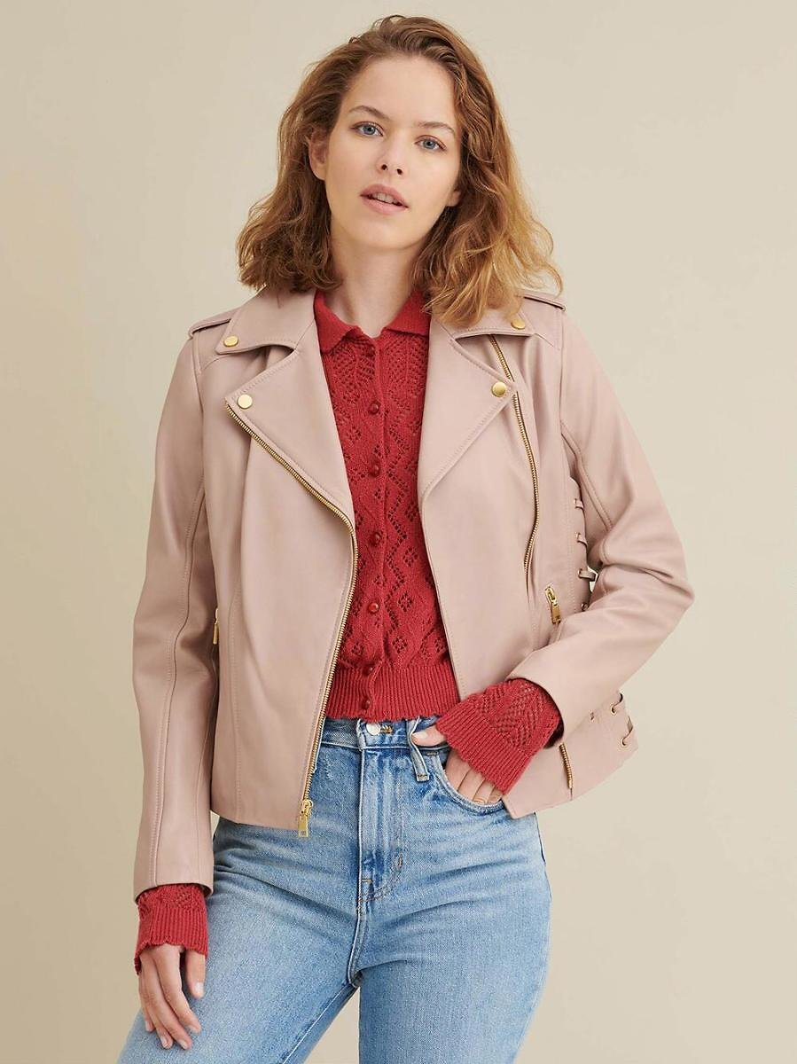 Lauren Leather Jacket with Side Lacing (2 Colors) - Wilsons Leather