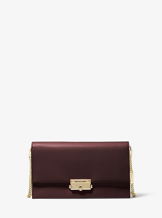 Cece Large Leather Convertible Crossbody Bag