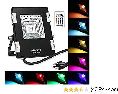 50% OFF After Using Code(GTEM6DSX) ON:Color Changing RGB LED Floodlight with Remote Control