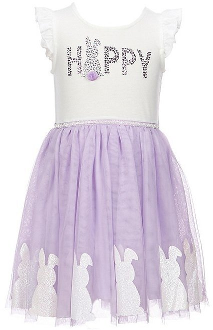 ZunieLittle Girls 4-6X Easter Bunny Fit-And-Flare Dress