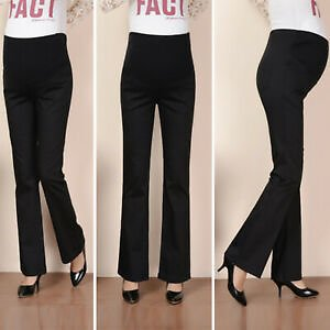 Maternity Women's High Waist Pants Trousers Pregnant Comfort Prop Belly Legging