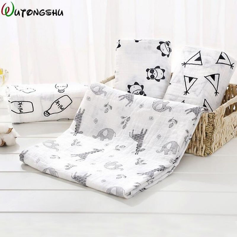 US $8.57 56% OFF Muslin Swaddles Baby Blankets Photography Accessories Bedding For Newborn Swaddle Towel Swaddles Blankets Breastfeeding Cover Blanket & Swaddling  - AliExpress