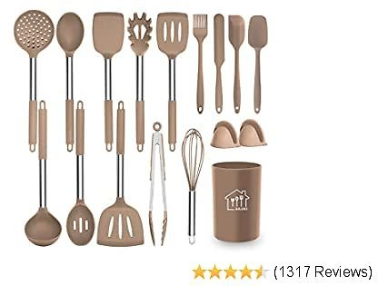 Silicone Cooking Utensil Set, 17 Pcs Heat Resistant ,Cookware
