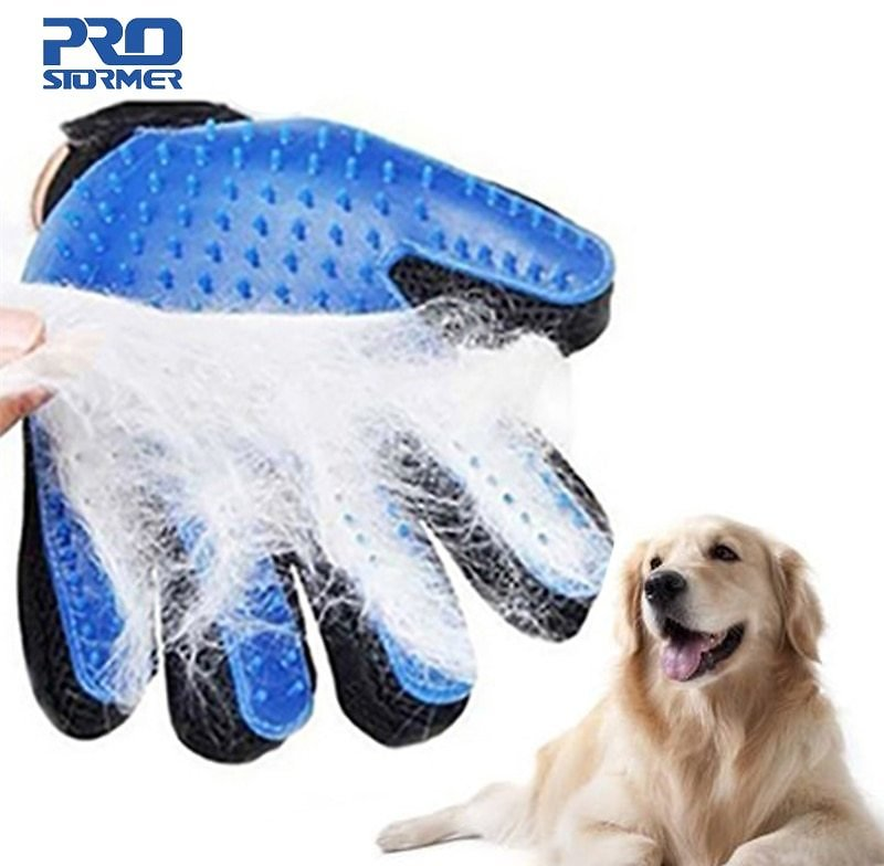 Dog Pet Grooming Glove Silicone Cats Brush Comb 2020
