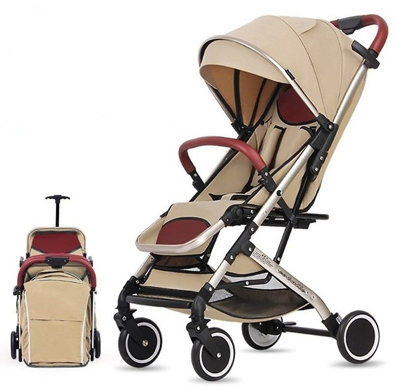 US $139.74 25% OFF|Baby Stroller Trolley Car Trolley Folding Baby Carriage 2 in 1 Buggy Lightweight Pram Europe Stroller Original Pushchair Plane|Lightweight Stroller| - AliExpress